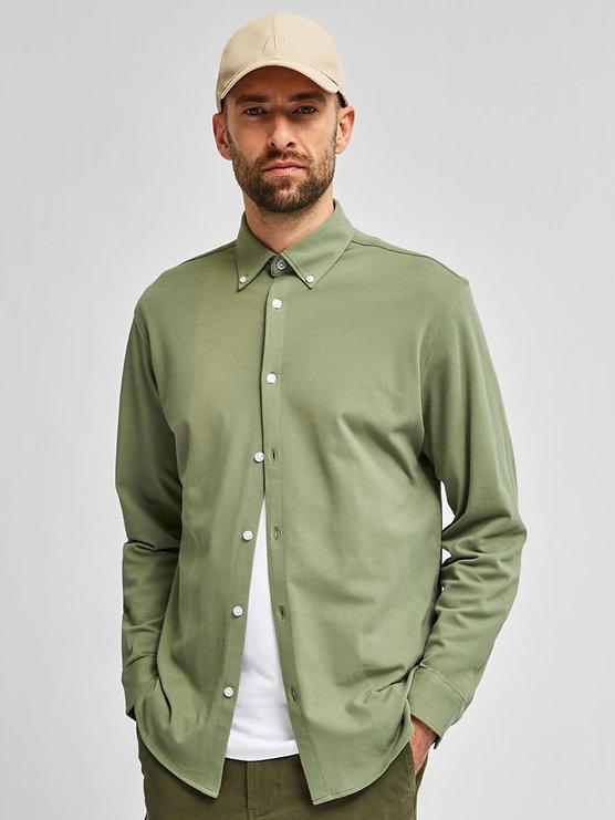 Camisa con cuello abotonado_16078866_Sea