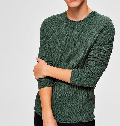 Jersey Cuello redondo algodón estructura