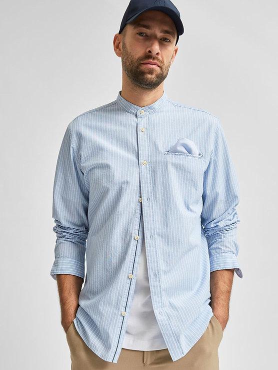 Camisa con Cuello de Mandarin_16077354_C
