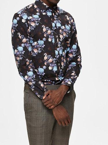 Camisa Slim de Flores