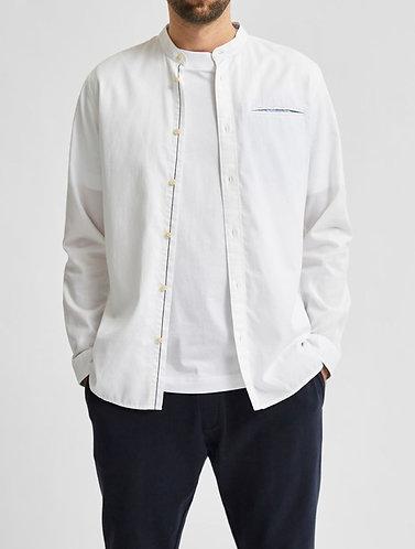 Camisa con Cuello de Mandarín