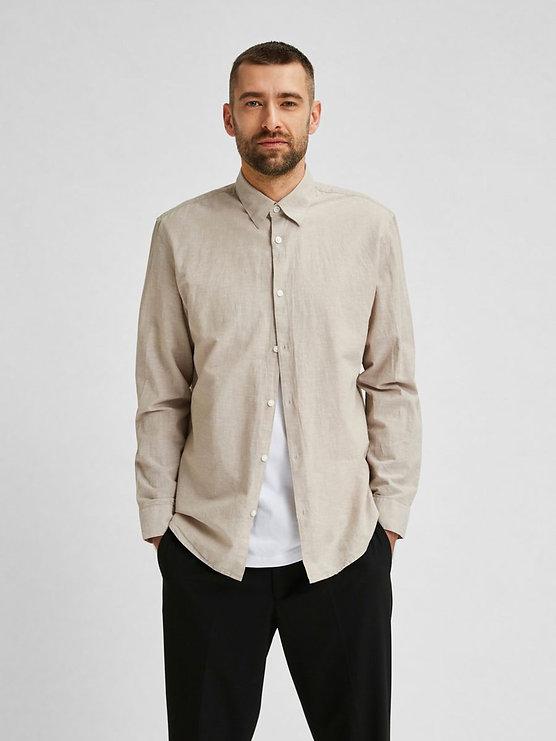 Camisa de lino y algodón_16078868_Crocke