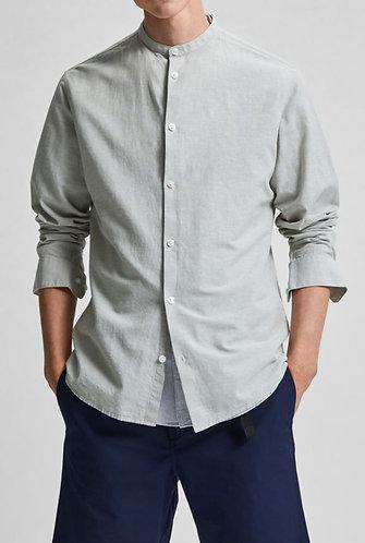 Camisa de Lino y Cuello Mao