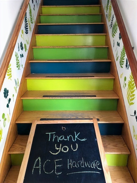 Thank you Ace! You made our stairwell mural possible!