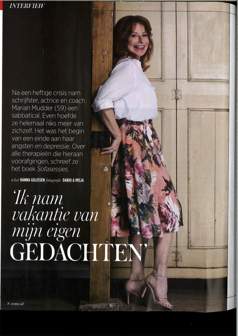 Interview met Marian Mudder over Sofasessies in Vrouw