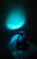 1-er Leuchte mit Blauem Kristall