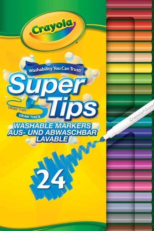 Crayola Washable Super Tips x 24