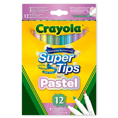 Crayola Super Tips Pastel x 12