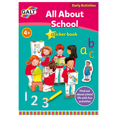 All About School Sticker Book  - Age 4+