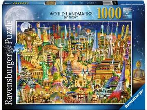 World Landmarks at Night, 1000pc