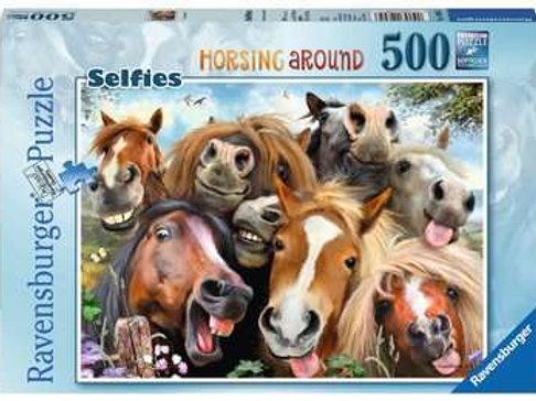 Selfie, Horsing Around, 500pc