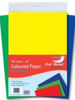 A4 Coloured Paper - 100 sheets