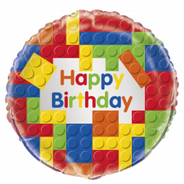 "18"" Happy Birthday Foil Round Balloon with Bubble Weight - Assorted Designs"