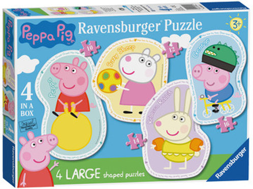 Peppa Pig Four Large Shaped Puzzles