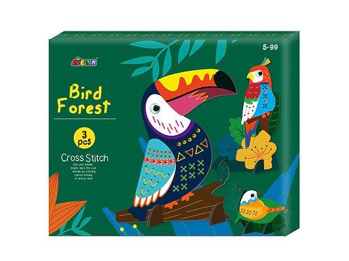 Bird Forest - Cross Stitch