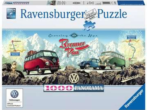 Cross the Alps with VW, 1000pc