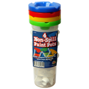 4 Non Spill Paint Pots with Stoppers