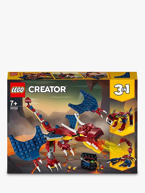 31102 Creator - Fire Dragon - Creator 3 in 1