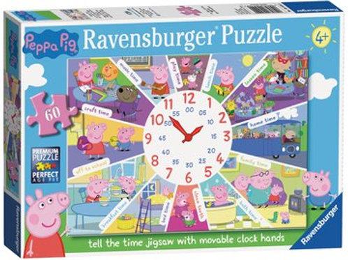 Peppa Pig Clock Puzzle, 60pc