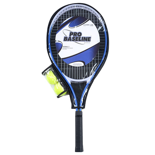 Baseline Tennis Racket Set with 2 Rackets and 2 Balls