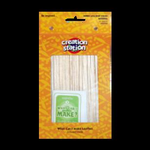 Lollipop Sticks, Jumbo, Natural