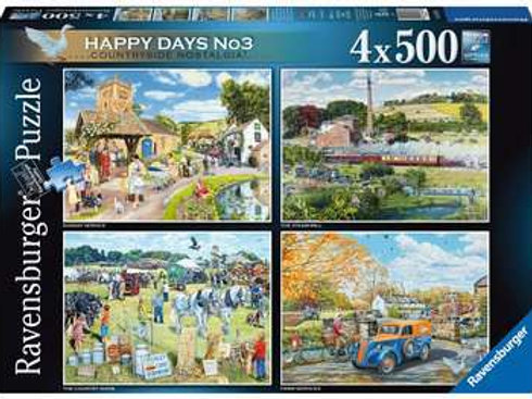 Happy Days No 3, Countryside Nostalgia, 4 x 500pc