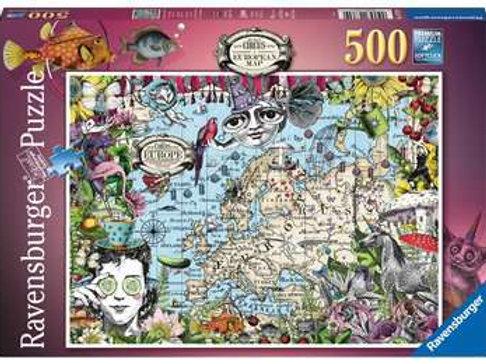 European Map, Quirky Circus, 500pc