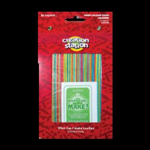 Lollipop Sticks, Jumbo, Coloured