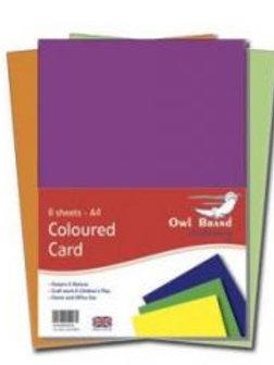 A4 Coloured Card - 8 sheets
