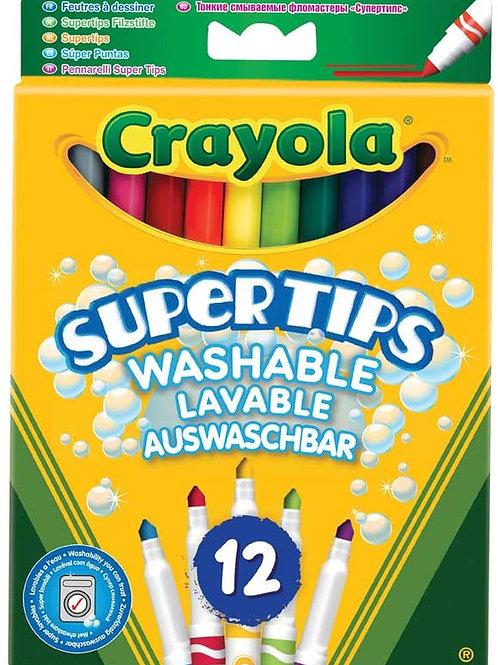Crayola Super Tips x 12