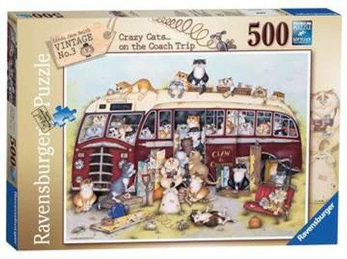 Crazy Cat Vintage Bus, 500pc