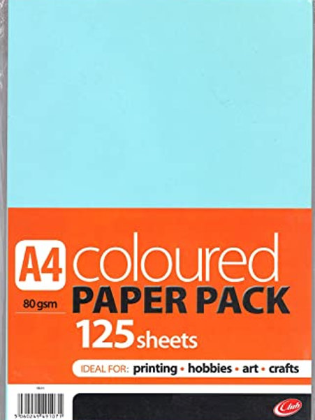A4 Coloured Paper - 125 sheets 80gsm
