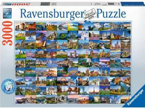 99 Beautiful Places in Europe, 3000pc