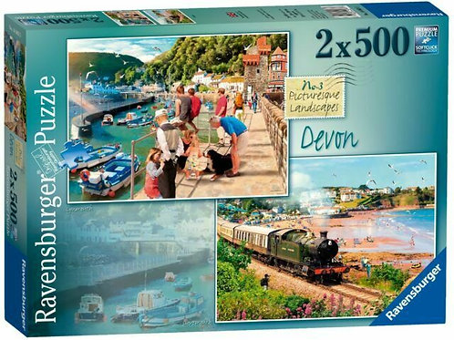 Picturesque Devon, 2x 500pc