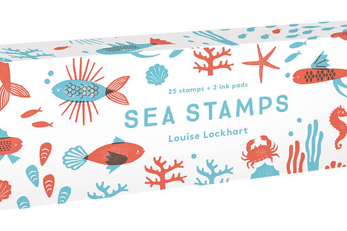 Sea Stamps: 25 Stamps and 2 Ink Pads