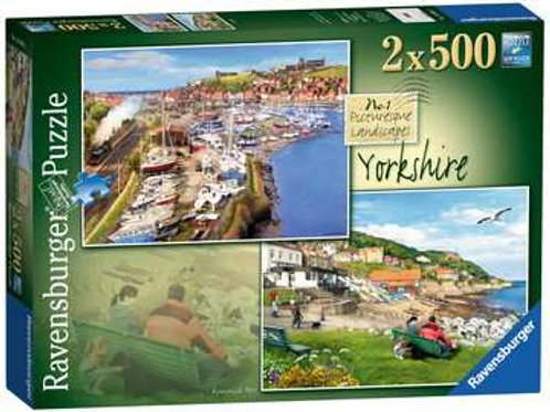 Picturesque Yorkshire, 2x500pc (Whitby & Runswick Bay)