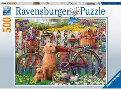 Cute Dogs in Garden, 500pc