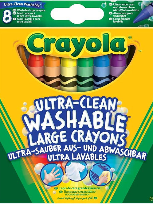 8 Ultra Clean Large Crayons