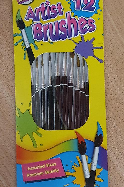 12 Artist Brushes