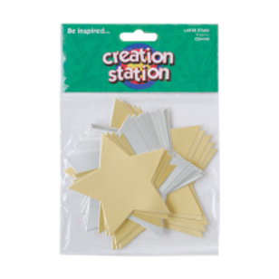 Gold & Silver Large Stars
