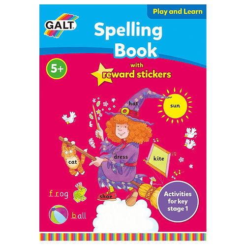 Spelling Book with Reward Stickers - Age 5+