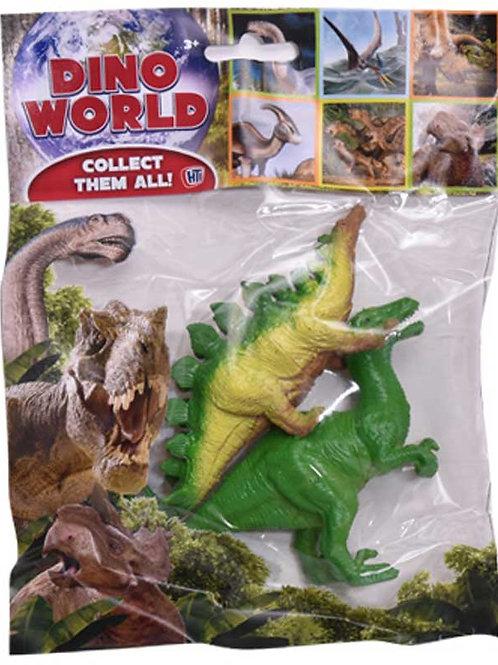 Plastic Dinosaurs - pack of 2