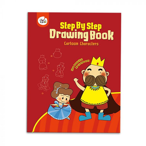 Step By Step Drawing Book - Cartoon Characters