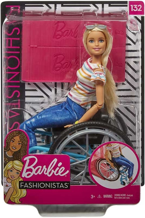 Barbie Fashionista Doll With Wheelchair (Caucasian)