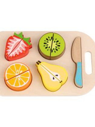 Wooden Play Cutting Fruits 6pc