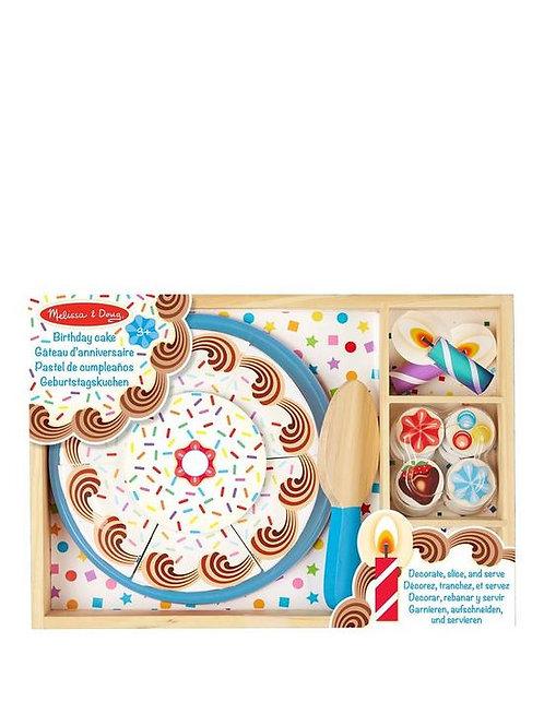 Wood Birthday Cake Cutting Set