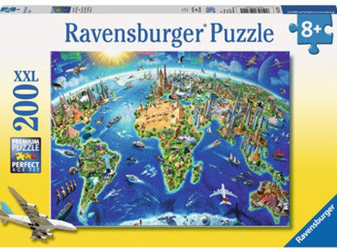 World Landmarks Map, 200pc