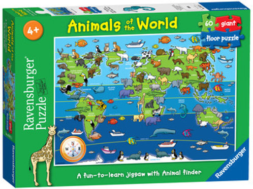 Animals of the World Giant Floor Puzzle, 60pc