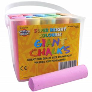 Giant Chalks in tub
