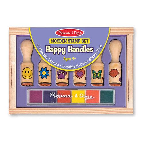 Wooden Stamp Set - Happy Handles